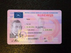 registered driving license