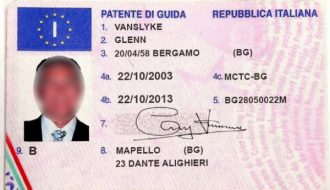 registered italy driving license